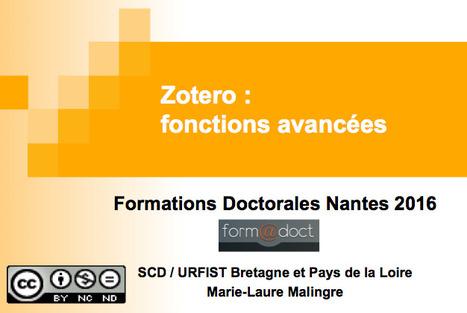 Zotero fonctions avancées (Ecoles Doctorales de l'Université de Nantes : Droit-Economie / Lettres / Sciences / Santé) | Zotero | Scoop.it