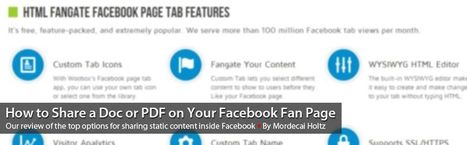 How to Embed a Doc or PDF in Your Facebook Fan Page   P3 Social & SEO   E-Learning and Online Teaching   Scoop.it
