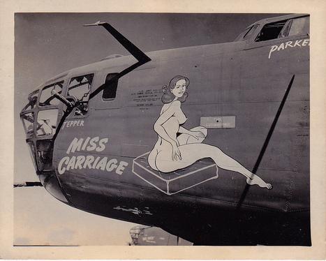 A little nose art | Flickr - Photo Sharing! | WW2 Bomber - Nose Art | Scoop.it