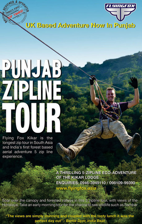 Adventure in Kikar | Most Adventurous Aerial tour in India with Flying Fox | Scoop.it