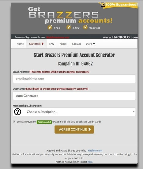 Get Brazzers Free Account