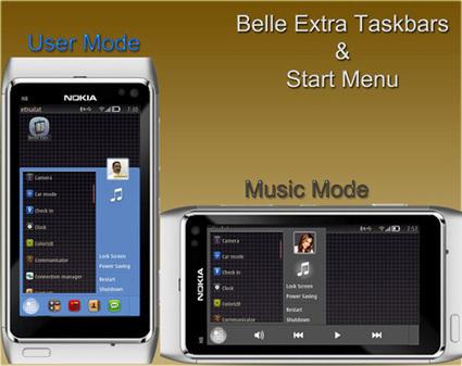 Belle Extra Taskbars & Start Menu for Symbian updated | SymbianTweet | Nokia, Symbian and WP 8 | Scoop.it