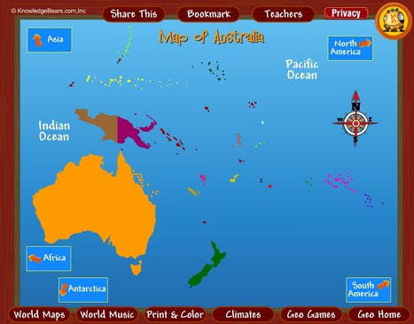 Australia Interactive Map.An Interactive Map Of Australia And Its Neighbo