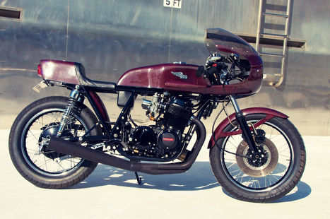 Return of the Cafe Racers: Honda CB750 K2 Black Heart | Cafe Racers | Scoop.it