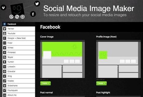 Social Media Image Maker. Tamaño de imágenes en Redes Sociales | Arte y Diseño | Scoop.it