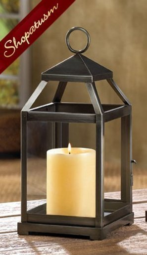 Wholesale Lanterns, Brushed Silver, Square Lant...