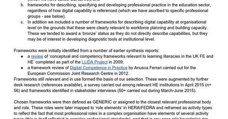 Frameworks review | Digital Literacies information sources | Scoop.it