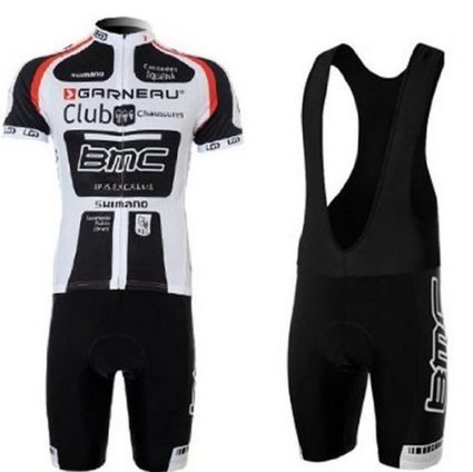 2013 New Styles Short Sleeve Bicycle Cycling Jersey   Bib Short Coolmax  Padding Team BMC BLACK WHITE (L) c63f4d381