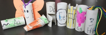The Activity Mom: Toilet Paper Tube Alphabet Crafts - What do you do with them? | Literacia no Jardim de Infância | Scoop.it