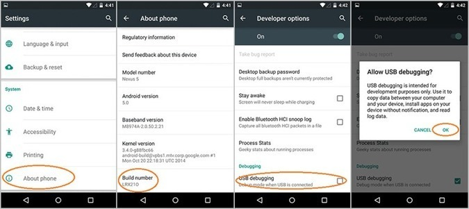 How to Enable USB Debugging and Connect Android