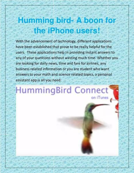 Best app question and answer-hummingbird connec...