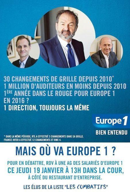 Les salariés d'Europe 1 dénoncent un «état d'urgence» dans leur radio | DocPresseESJ | Scoop.it