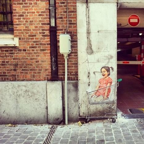 Whimsical New Street Art Sprouts Up in Belgium - My Modern Metropolis | Street art news | Scoop.it