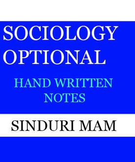 SINDURI Mam Sociology Optional Handwritten Note