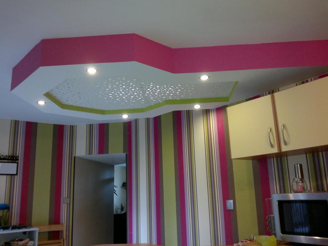 Beautiful Decoration Des Salon Placoplatre Gallery Ansomone Us  # Placo Disagne Simple Dans Une Chambre