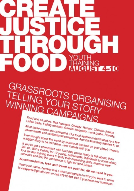 Create Justice Through Food – Youth Training Opportunity   Opportunities for Young Brits   Scoop.it