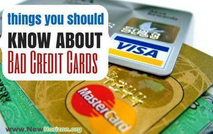 Things You MUST Know About Bad Credit Credit Cards | Money Savings to a better Life | Scoop.it