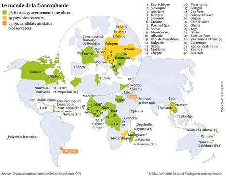 Qui sont les pays membres de l'Organisation internationale de la francophonie ? | Du bout du monde au coin de la rue | Scoop.it