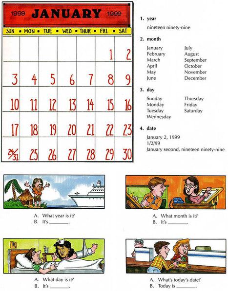 Calendar Learn The Vocabulary For Calendars E