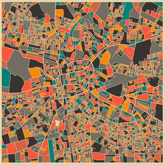 Des cartes abstraites de différentes villes du monde   Nuevas Geografías   Scoop.it