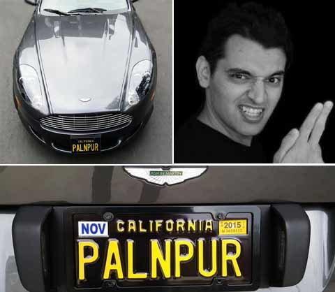 Pranav Mistry's new aston martin have PALANPUR