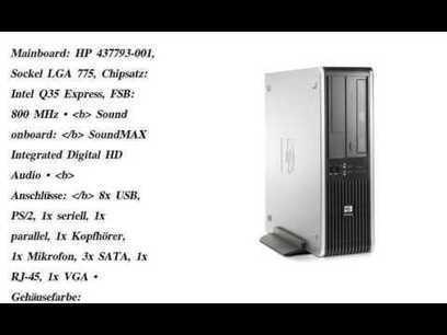 HP Compaq DC7800 SFF, 2x2,0GHz, 2GB RAM, 160GB,