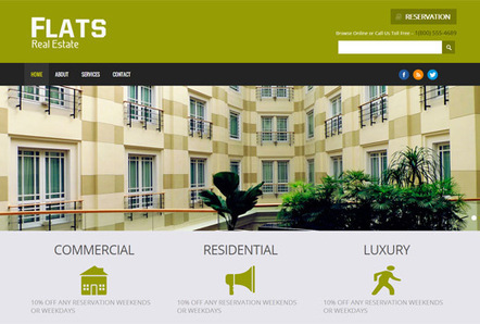 Flats A Real Estate Responsive Web Template And