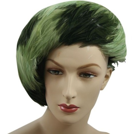 Vintage Green Feather Tilt Hat ~ Made in England | All About Vintage | Scoop.it