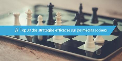 Top 30 des stratégies efficaces sur les médias sociaux - Webzako | Community Management et entreprises | Scoop.it