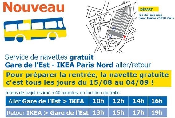 Ikea Paris Nord Des Navettes Gratuites De Par