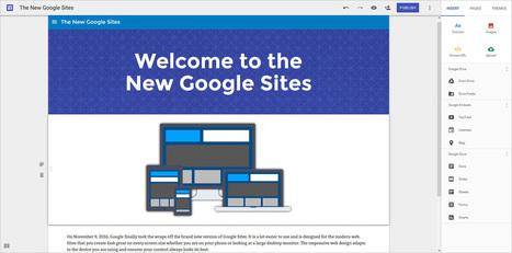 Take a Look at the New Google Sites for Schools | Online & Blended Learning | Scoop.it