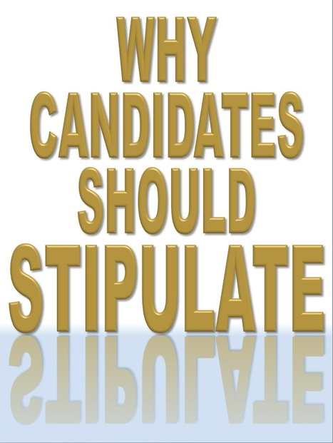 Why the Candidates Should (But Won't) Stipulate | Politics for the Twenty-first Century | Scoop.it