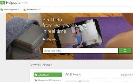 Avec «Helpouts», Google propose de partager ses bons tuyaux en vidéo   Geeks   Scoop.it