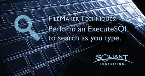 ExecuteSql' in Learning FileMaker | Scoop it