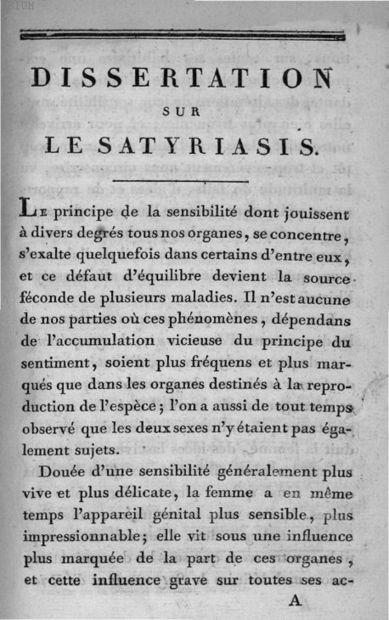Control satyriasis