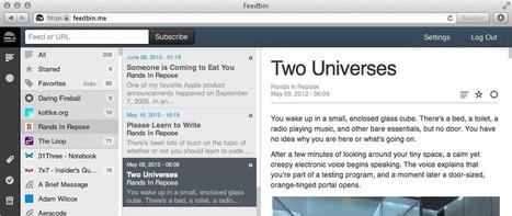Feedbin | New Web 2.0 tools for education | Scoop.it
