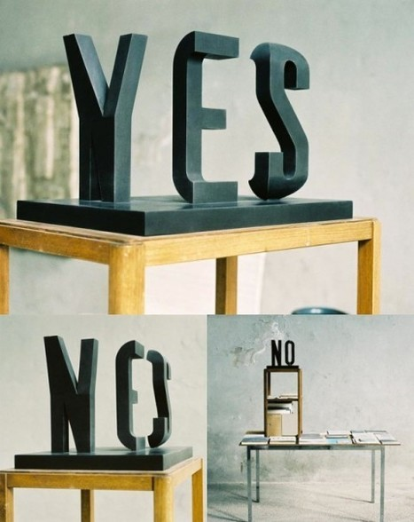 Typographic illusion sculpture - Holy Kaw! | Graphic designs | Scoop.it
