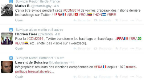 Twitter introduit les hashflags pour le Mondial | Mnemosia: Graphics, Web, Social Media | Scoop.it