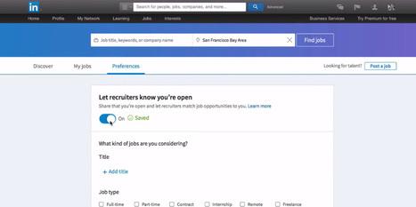 LinkedIn Open Candidates : ouverts aux opportunités ? Faites-le savoir ! | Candidats et Recruteurs : sortir du lot - Trouvez votre formation sur www.nextformation.com | Scoop.it