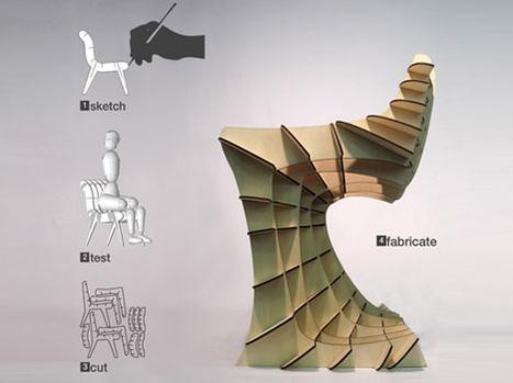 Laser-Printed Furniture?! Draw It in 2D then Build It in 3D | Designs & Ideas on Dornob | .748 | Scoop.it