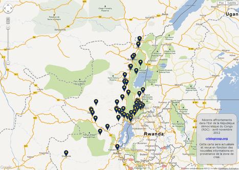 Cartographie des affrontements dans l'Est de la République démocratique du Congo - Avril-Novembre 2012 | Virunga - WWF | Scoop.it