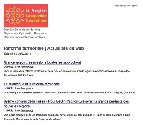 Témoignage sur le système de veille de la Région Languedoc-Roussillon | RSS Circus : veille stratégique, intelligence économique, curation, publication, Web 2.0 | Scoop.it