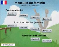 Orthoblog.fr: Masculin ou féminin ? Jeu FLE | Remue-méninges FLE | Scoop.it