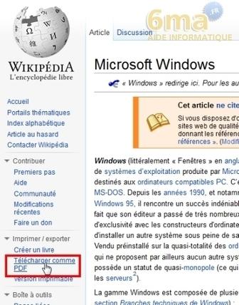 Comment convertir un article de Wikipedia en fichier PDF ? | netnavig | Scoop.it