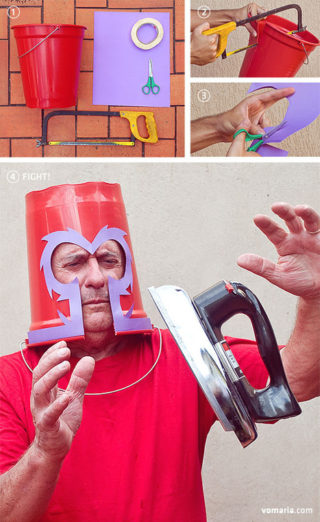 HOW TO: Make a Low Budget Magneto Helmet | All Geeks | Scoop.it