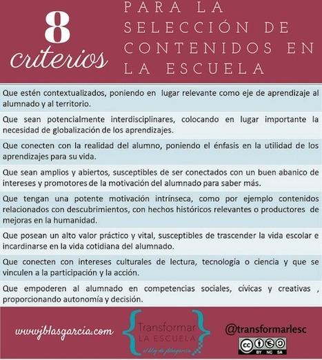 LOS CONTENIDOS COMO CONTINENTE | Aprender y educar | Scoop.it