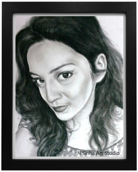 Pencil sketch portrait artist in faridabad 91 9958812195