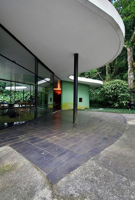 Oscar Niemeyer's Casa de Canoas, Rio de Janeiro, Brazil  | DesignRulz | Mid-Century Modern Architects and Architecture | Scoop.it