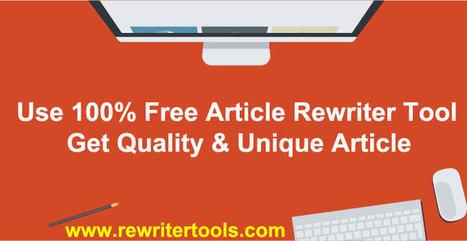 Article Rewrite  Scoopit Best Free Online Article Rewriter Tool