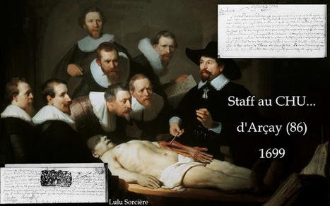 Lulu Sorcière Archive: Staff au CHU d'Arçay (86) - 1699 | Rhit Genealogie | Scoop.it